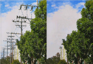 A sample of what the sky would look like without obstructing wires everywhere.